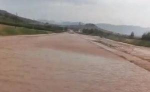 Estado de la carretera Navarrete-Entrena