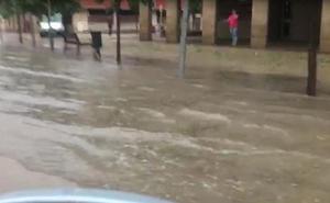 Avenida de Burgos, inundada