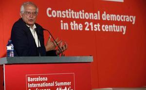 Borrell avisa de que la retirada del delito de rebelión no depende del Gobierno