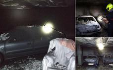 Calcinados cuatro vehículos en un garaje de Logroño