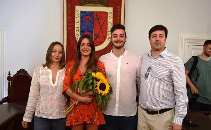 Sara Fernández, reina de las fiestas de Calahorra
