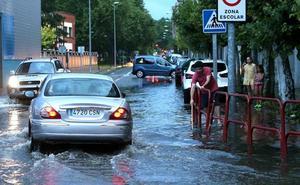 Calles inundadas en Logroño