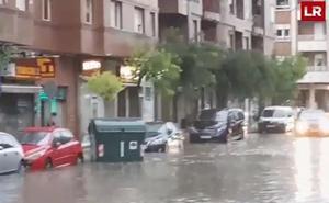 Los vídeos de los lectores: así fue la tormenta en Logroño