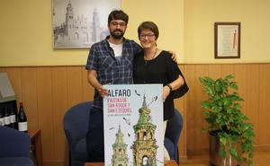El alfareño Adrián Pereda ilustra el cartel anunciador de las fiestas patronales