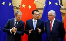 La UE y China hacen frente  común contra Estados Unidos
