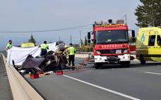 Un muerto y un herido muy grave en un accidente en la N-111 en Nalda