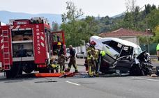Muere un vecino de Zamora en un choque frontal en la N-111 entre Albelda y Nalda