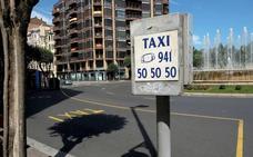 Los taxistas riojanos acuerdan mantener la huelga y preparan una marcha lenta