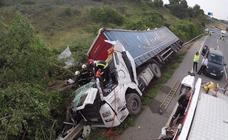 Un camionero vecino de Alfaro fallece en un accidente en Navarra