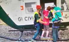 Helicópteros de Agoncillo rescatan a una mujer que se cayó al hacer una foto en el Moncayo