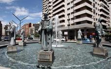 Limpieza de las fuentes de la ciudad