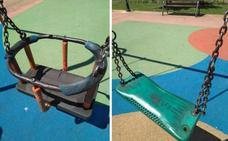 Parque «renovado» en Lardero