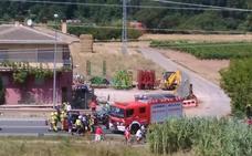 Tres heridos en un accidente en Villamediana