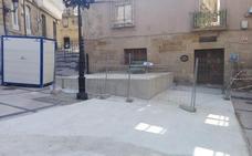 La plaza García Gato, ocupada por obras