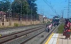 El tren de Logroño-Zaragoza, averiado en Recajo