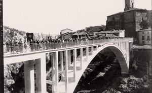 La Retina: inauguración del puente de Ortigosa