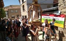 Procesión y subasta de los palos de la Virgen