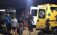Tres jóvenes, atrapados durante 8 horas en el barranco del Colorado, en Daroca
