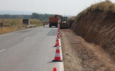 Los trabajos para acondicionar un nuevo tramo del Camino Jacobeo avanzan en Alfaro