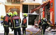 Incendio en una bajera en Nájera