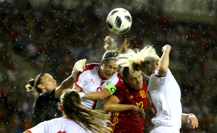 Las jugadas del partido entre España y Serbia