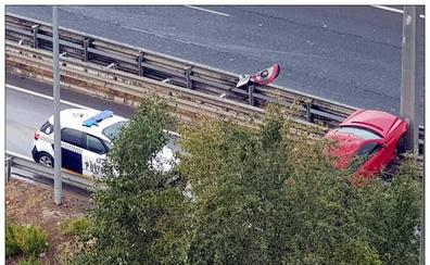 Un hombre resulta herido en un accidente en la Circunvalación