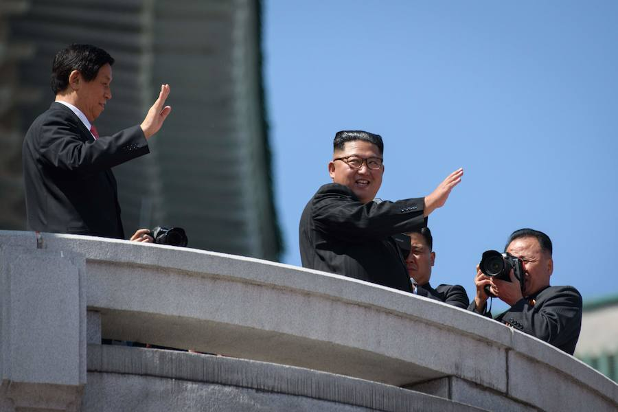 El desfile militar de Corea del Norte, en imágenes