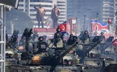 Corea del Norte rebaja el tono militar en el desfile por su 70 aniversario
