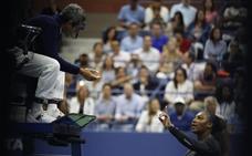Serena, multada con 17.000 dólares por su bronca en la final del US Open