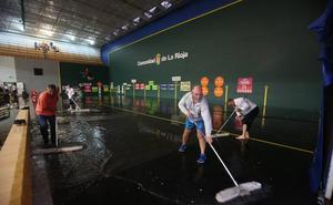 Suspendido el partido de la feria de pelota por la inundación del Adarraga