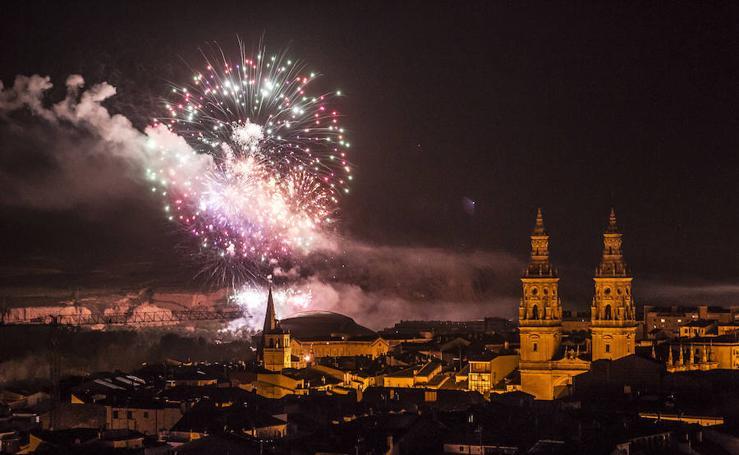 La magia del fuego sobre Logroño