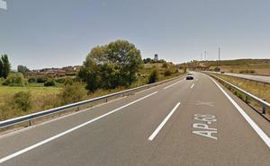 Accidente en la AP-68, a la altura de Rodezno