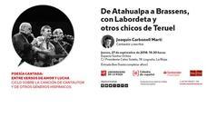 Joaquín Carbonell ofrece el recital 'De Atahualpa a Brassens, con Labordeta y otros chicos de Teruel'