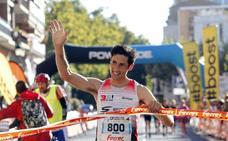 El podio del 2017 repite en la V Maratón Ciudad de Logroño