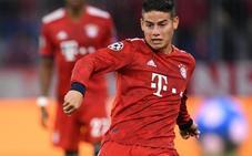 James estalla en el vestuario del Bayern