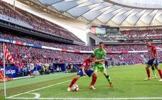 El Atlético llega arriba en la tabla