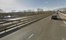 Colisión de dos vehículos en la A-13 a su paso por Logroño