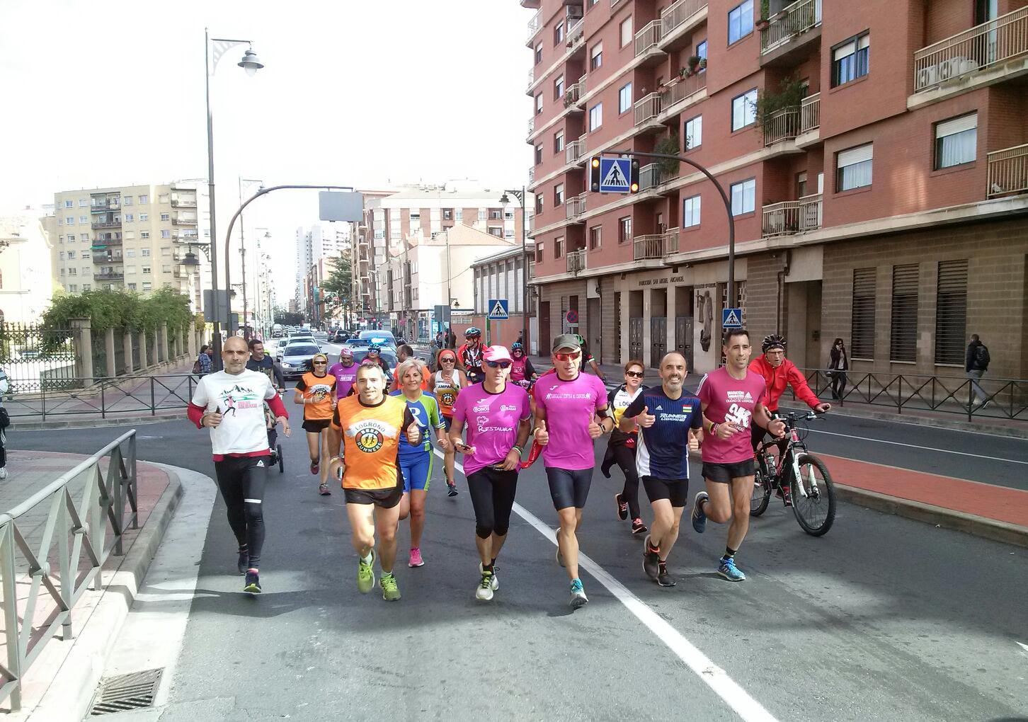 'Zancadas contra el cáncer' pasa por Logroño