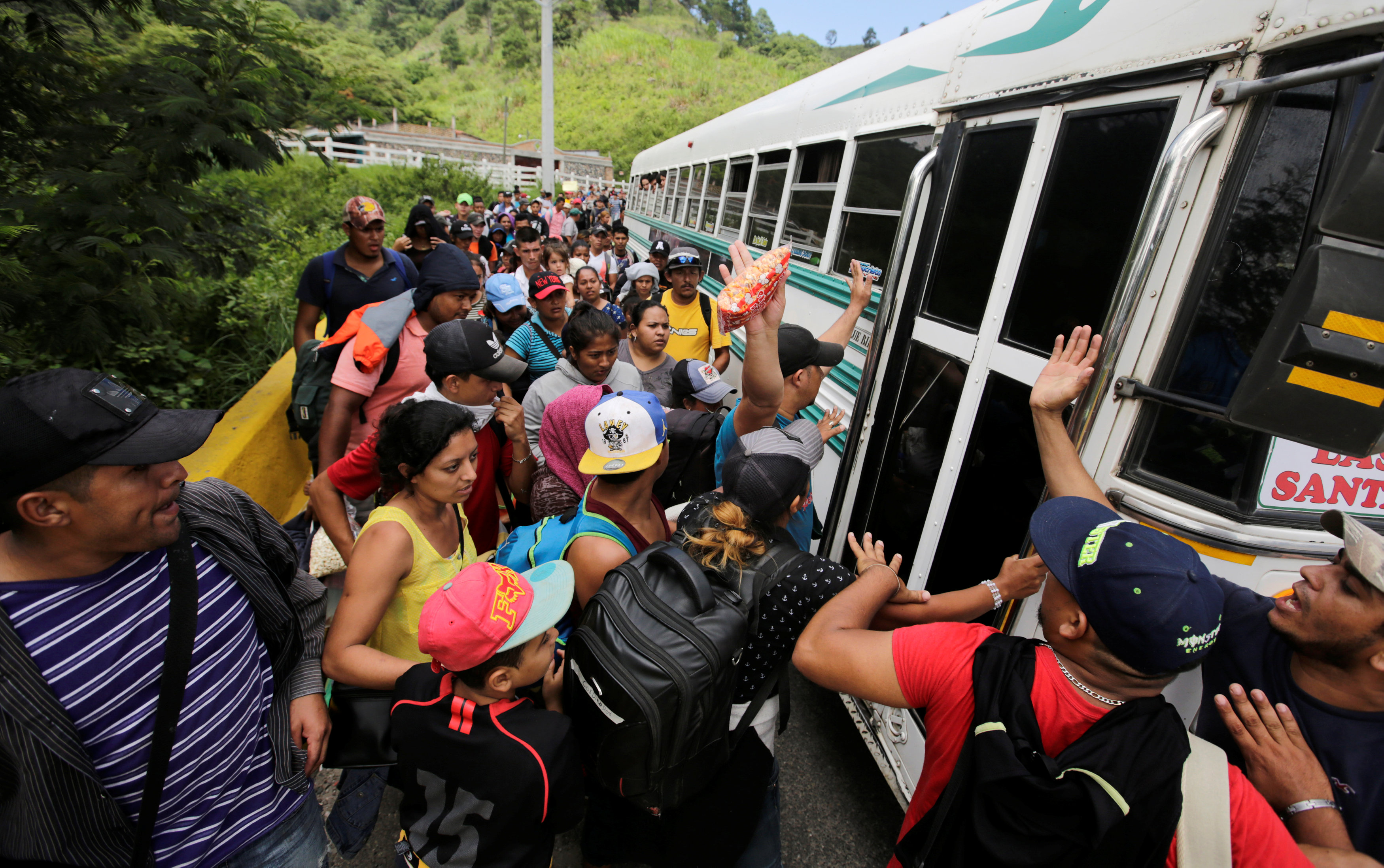 La caravana que desafía la política migratoria de Trump