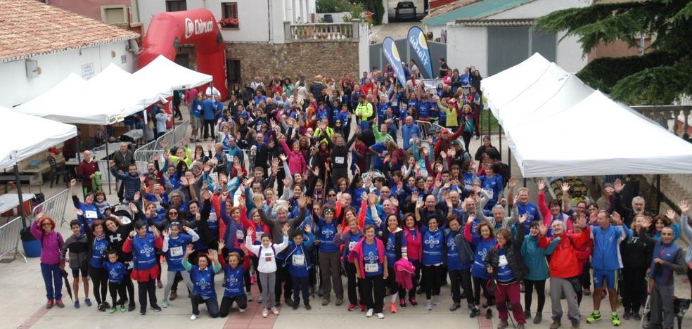 El Redal celebró la marcha y carrera solidaria a favor de AFA-Rioja a pesar de la lluvia