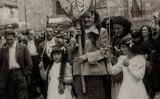 Procesión de San Antonio en Valgañón en los 50