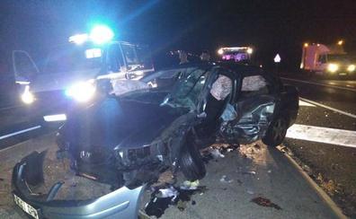Un muerto y un herido grave en un accidente en la N-232 a la altura de Corera