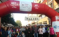 Una marcha solidaria de UGT recauda fondos para la Asociación Riojana de Enfermedades Raras