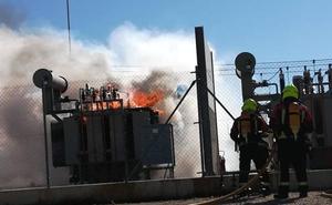 Incendio en un parque solar en Arnedo