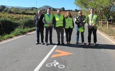 Las carreteras riojanas estrenan un sistema de señalización para motoristas