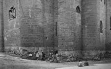 La Retina: vista de 1932 de Santa María la Real de Nájera