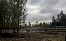La pasarela de Villamediana sobre el Iregua, abierta