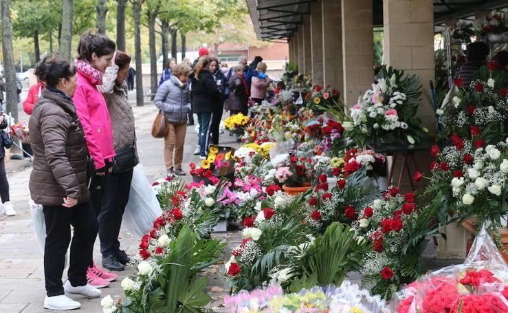 Mercado de flores en Logroño