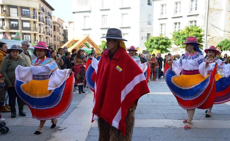 Fiesta de la virgen del Quinche de la asociación Águilas Viajeras de Ecuador