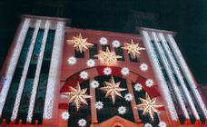 Recreación de la iluminación institucional navideña de Logroño